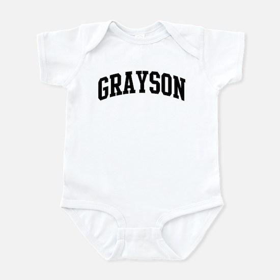 GRAYSON (curve-black) Infant Bodysuit