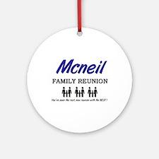 Mcneil Family Reunion Ornament (Round)