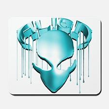 Alien with Logo Molten Aqua Mousepad