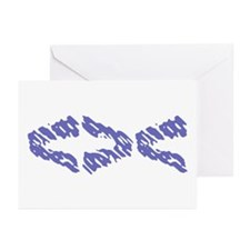 Blue Fish Greeting Cards (Pk of 10)