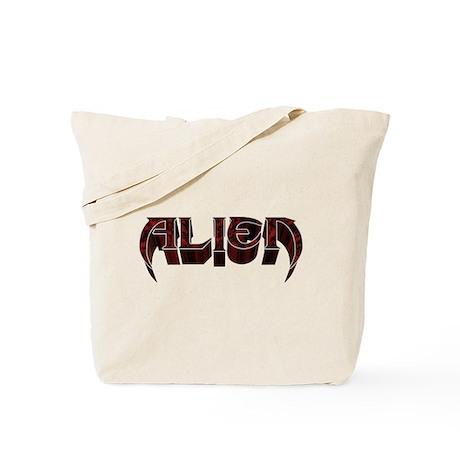 """""""Alien"""" Red Marble Tote Bag"""