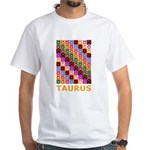 Pop Art Taurus White T-Shirt