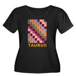 Pop Art Taurus Women's Plus Size Scoop Neck Dark T
