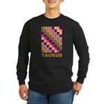 Pop Art Taurus Long Sleeve Dark T-Shirt