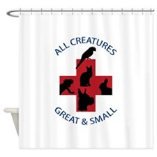 ALL CREATURES Shower Curtain