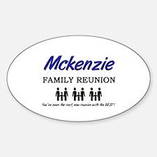 Mckenzie Family Reunion Oval Decal