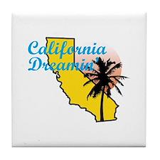 CALIFORNIA DREAMIN Tile Coaster