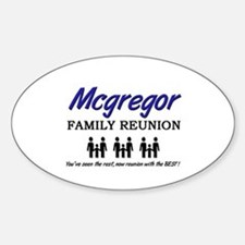 Mcgregor Family Reunion Oval Decal