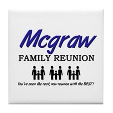 Mcgraw Family Reunion Tile Coaster