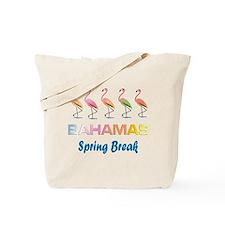 Tropical Flamingos BAHAMAS Spring Break Tote Bag