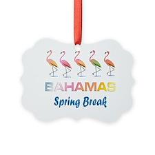 Tropical Flamingos BAHAMAS Spring Ornament