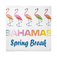 Tropical Flamingos BAHAMAS Spring Brea Queen Duvet