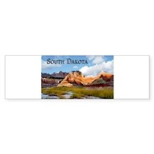 Mountains Sky in the Badlands Nati Bumper Bumper Sticker
