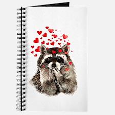 Raccoon Blowing Kisses Cute Animal Love Journal