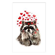 Raccoon Blowing Kisses Cute Animal Love Postcards