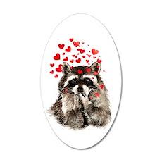 Raccoon Blowing Kisses Cute Wall Decal
