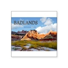 Mountains Sky in the Badlands National Pa Sticker