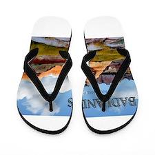 Mountains Sky in the Badlands National Flip Flops