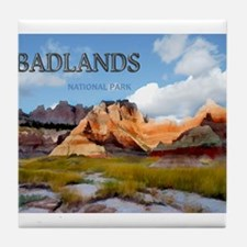 Mountains Sky in the Badlands Nation Tile Coaster