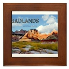 Mountains Sky in the Badlands Nationa Framed Tile