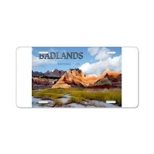 Mountains Sky in the Badla Aluminum License Plate