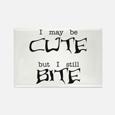 I May Be Cute Rectangle Magnet