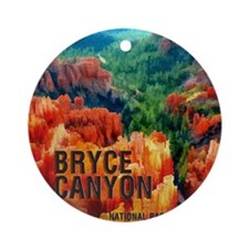 Hoodoos in Bryce Canyon National Ornament (Round)