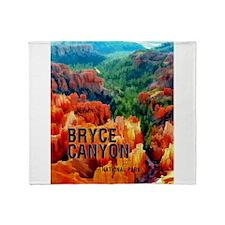 Hoodoos in Bryce Canyon National Par Throw Blanket
