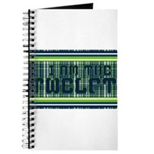 Lime and Blue Plaid Journal