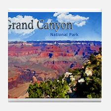 Grand Canyon NAtional Park Poster Tile Coaster