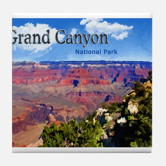 Grand Canyon NAtional Park Poster Tile Coaster
