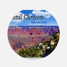 Grand Canyon NAtional Park Poster Ornament (Round)
