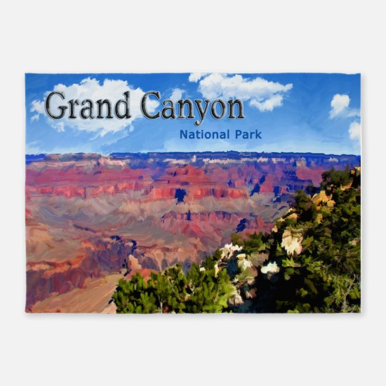 Grand Canyon NAtional Park Poster 5'x7'Area Rug
