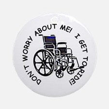 Wheelchair Ornament (Round)
