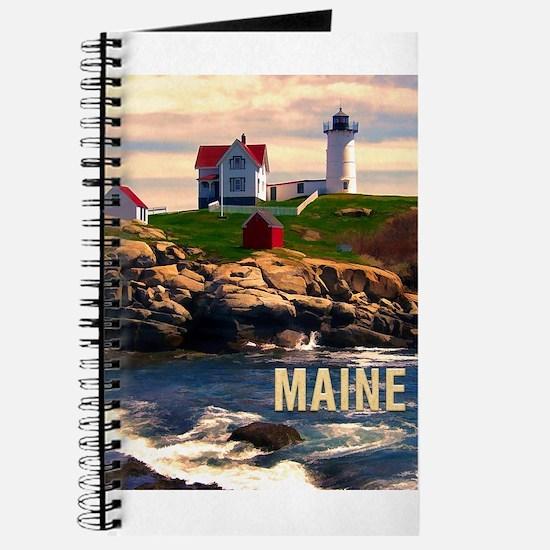 Cape Neddick Lighthouse Maine at Sunset Journal