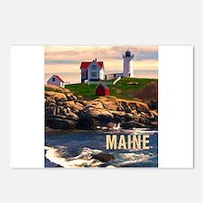 Cape Neddick Lighthouse M Postcards (Package of 8)