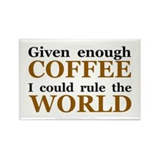 Given Enough Coffee Rectangle Magnet