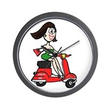 Scooter Girl Wall Clock