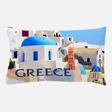 Blinding White Buildings in Greece Pillow Case