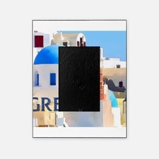 Blinding White Buildings in Greece Picture Frame