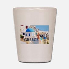 Blinding White Buildings in Greece Shot Glass