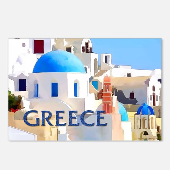 Blinding White Buildings Postcards (Package of 8)