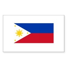 Philippine Flag Rectangle Decal