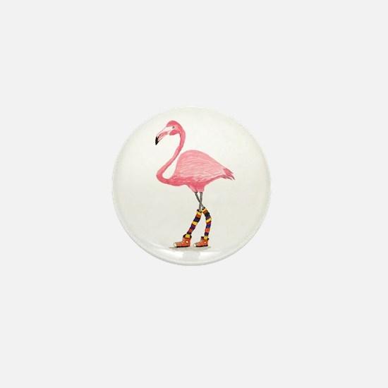 Styling Flamingo Mini Button