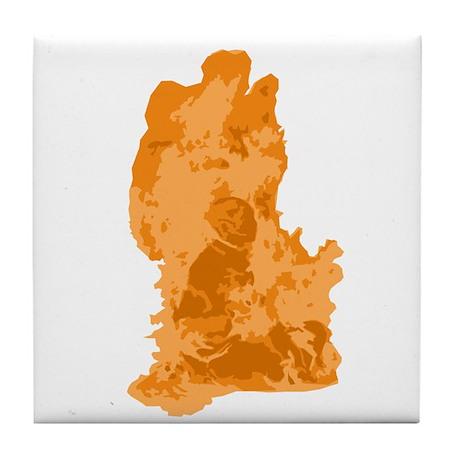 Burning Monk Tile Coaster