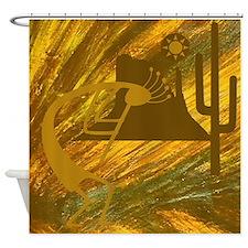 Dance of the Desert Deity Shower Curtain