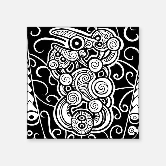 """polynesian design Square Sticker 3"""" x 3"""""""