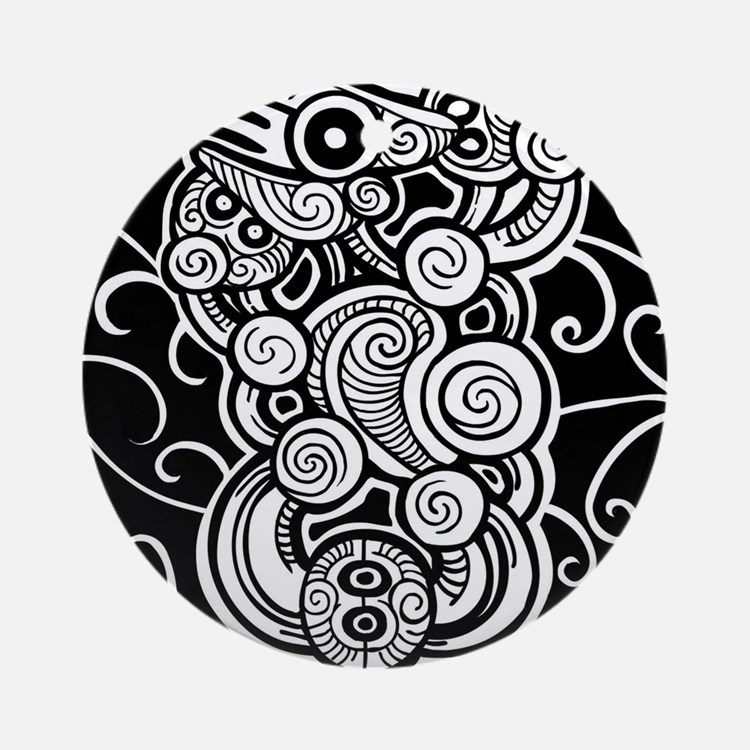 polynesian design round ornament - Cook Island Designs