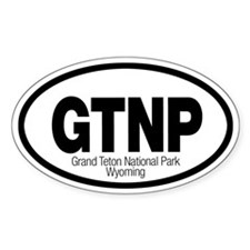 Grand Teton National Park Oval Decal