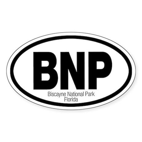 Biscayne National Park Oval Sticker